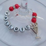 Martini Glass Personalised Wine Glass Charm - Elegance Style